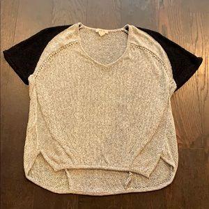 Helmet Lang gray black knit top